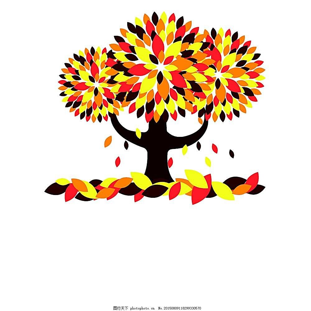 手绘秋天落叶背景
