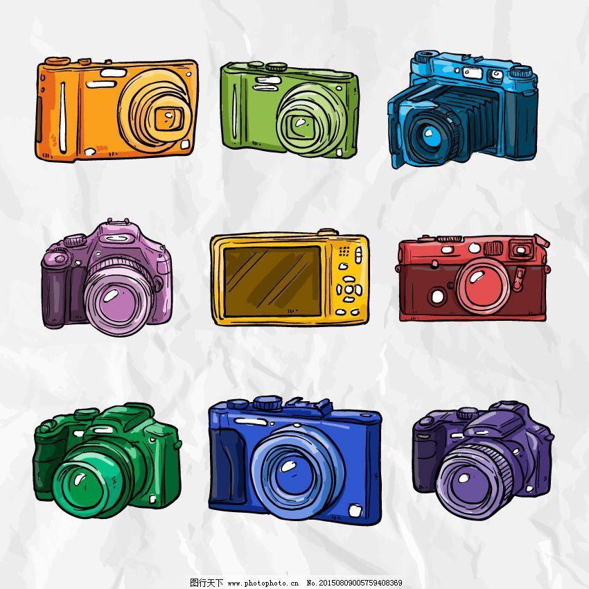 五颜六色的手绘相机