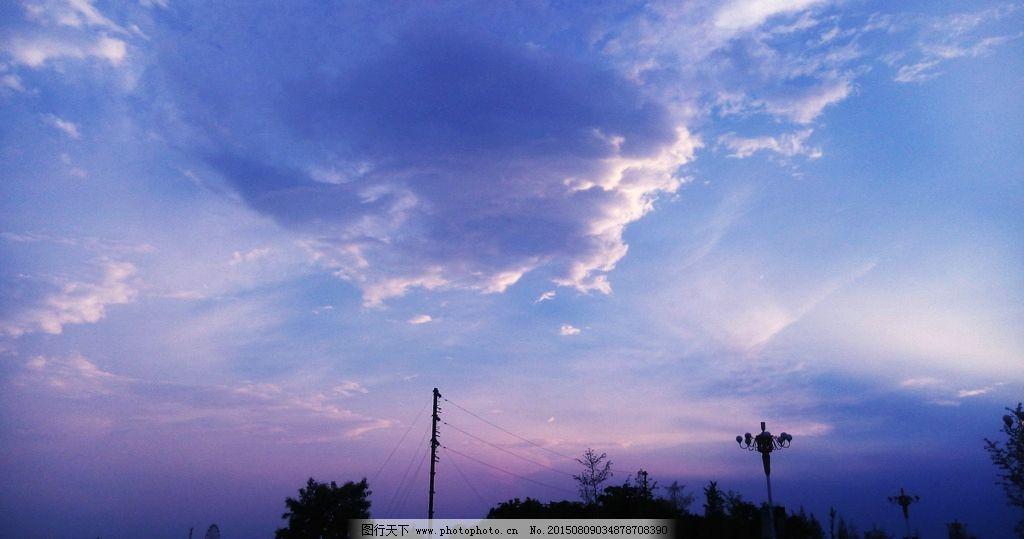 天空 蓝天 白云 彩云 云彩 树木 自然风景 摄影 自然景观 自然风景 1