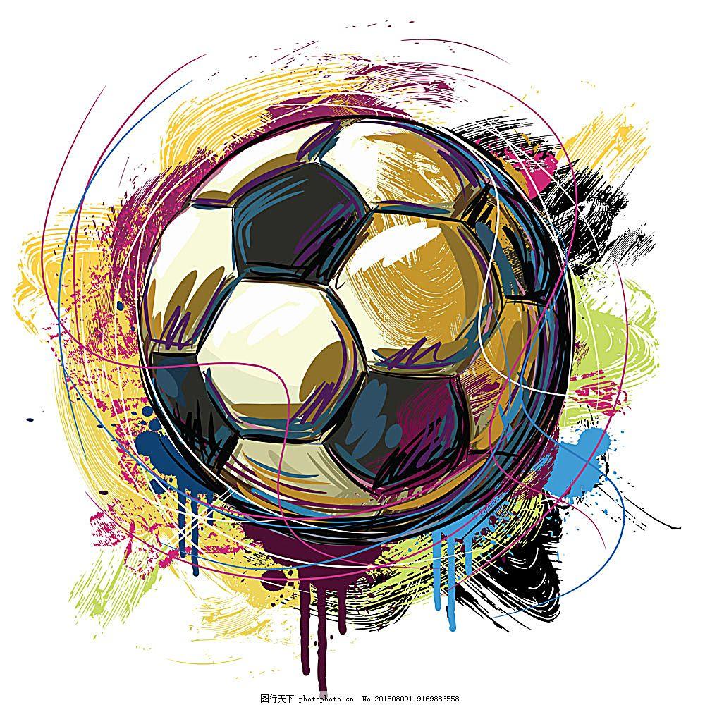 矢量足球设计 足球 矢量足球 足球设计 运动 体育 手绘 插画 涂鸦