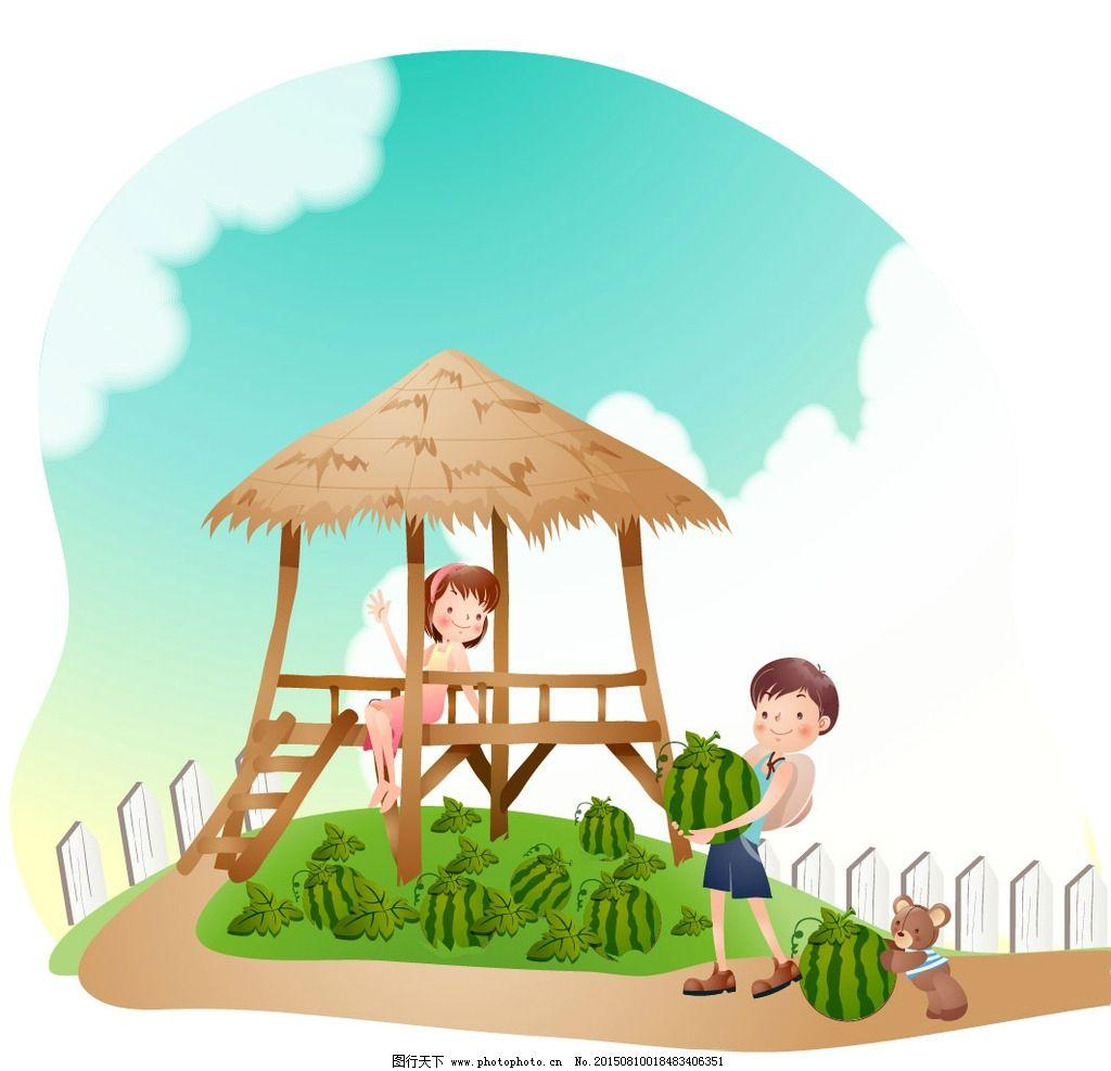 卡通小清新伞图片