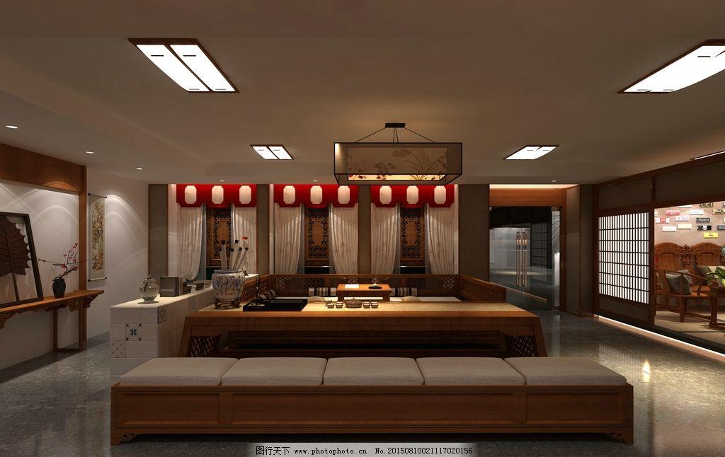 泡茶室效果图 室内效果图 中式风格设计 3d设计 3d作品 家装工装 设计图片