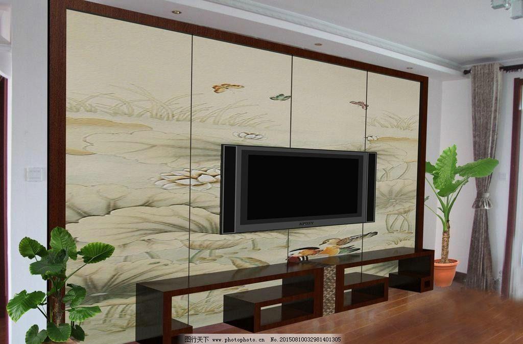 红地板配电视墙