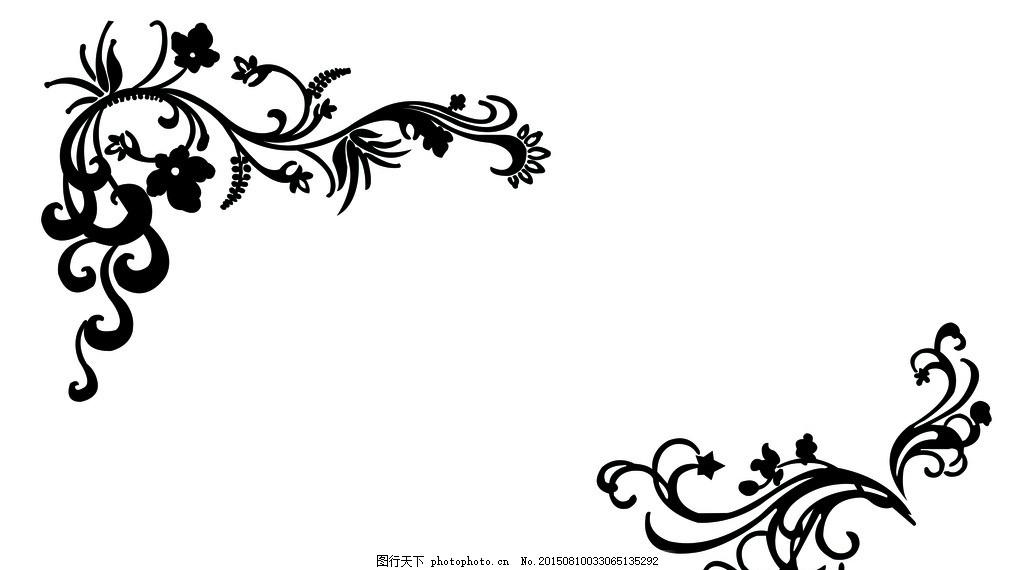 硅藻泥 对角花 甩花 花纹 背景墙 卧室背景墙 欧式花纹 黑白花纹