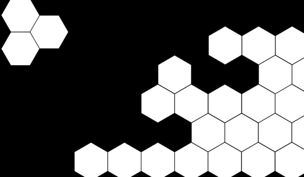型_蜂窝型黑白屏幕分割遮罩视频素材-10