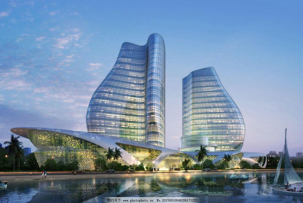 滨水 建筑 设计效果图