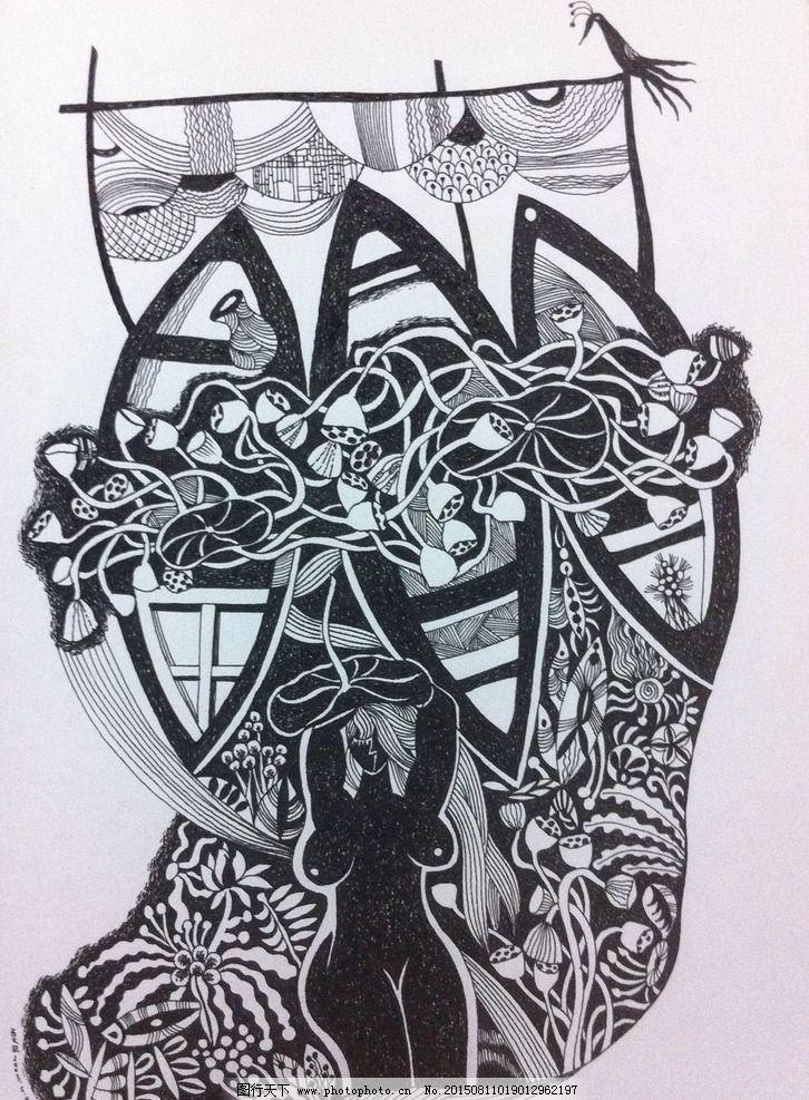 黑白剪纸画图片