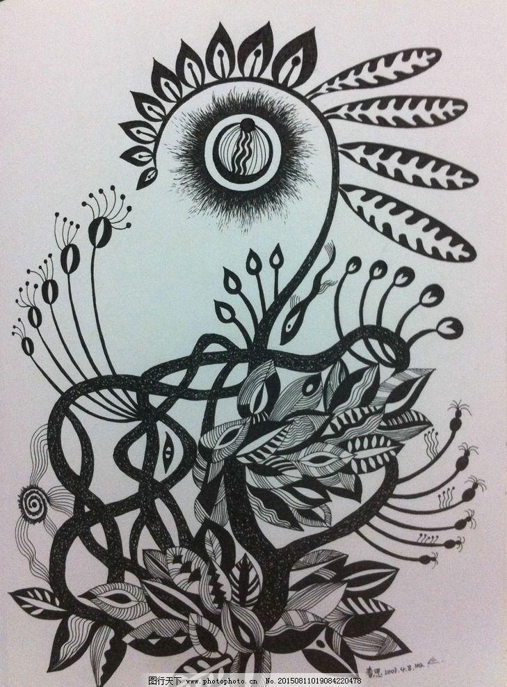 黑白艺术 黑白画 装饰画图片