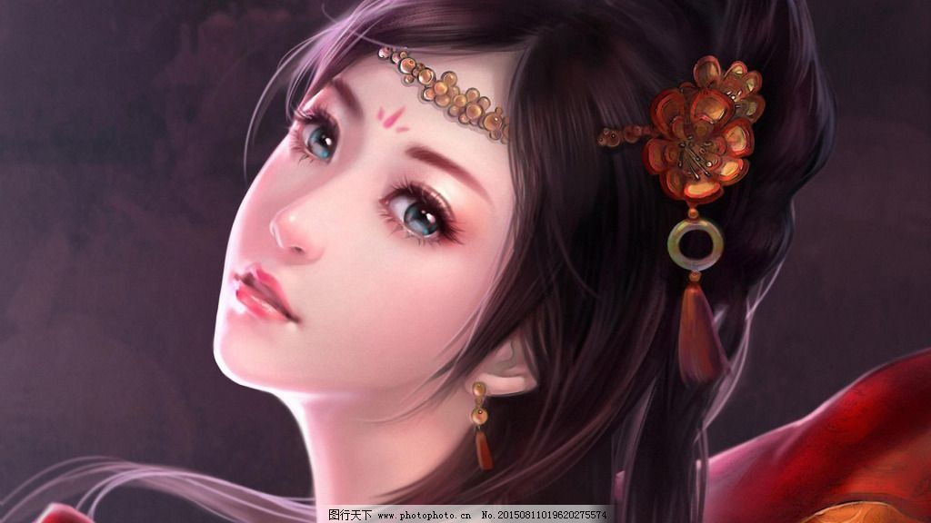 古典 古典美女 美女 手绘图 手绘图 古典 美女 古典美女 图片素材