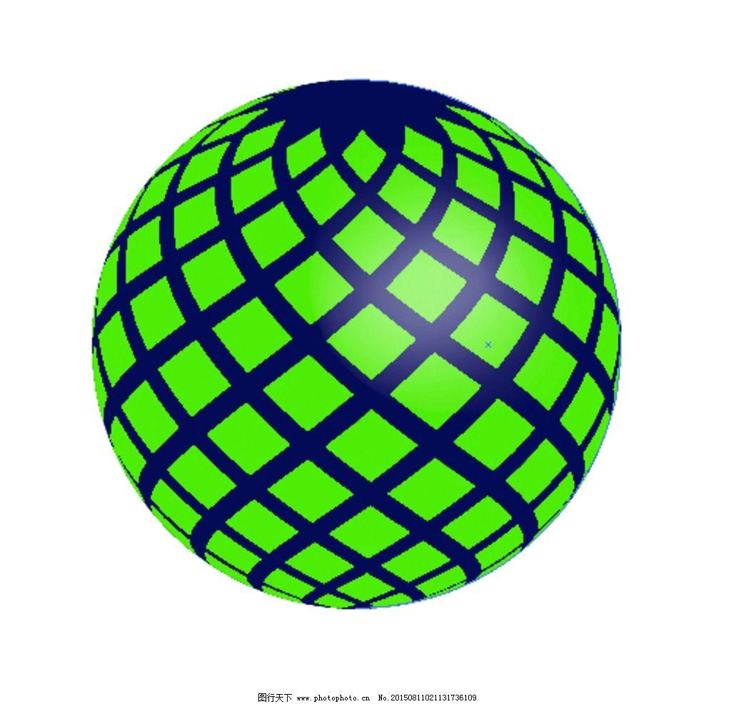 菱形贴图球体 缤纷 圣诞 圆形 扭曲 球形 绿色 渐变 光 黑色球