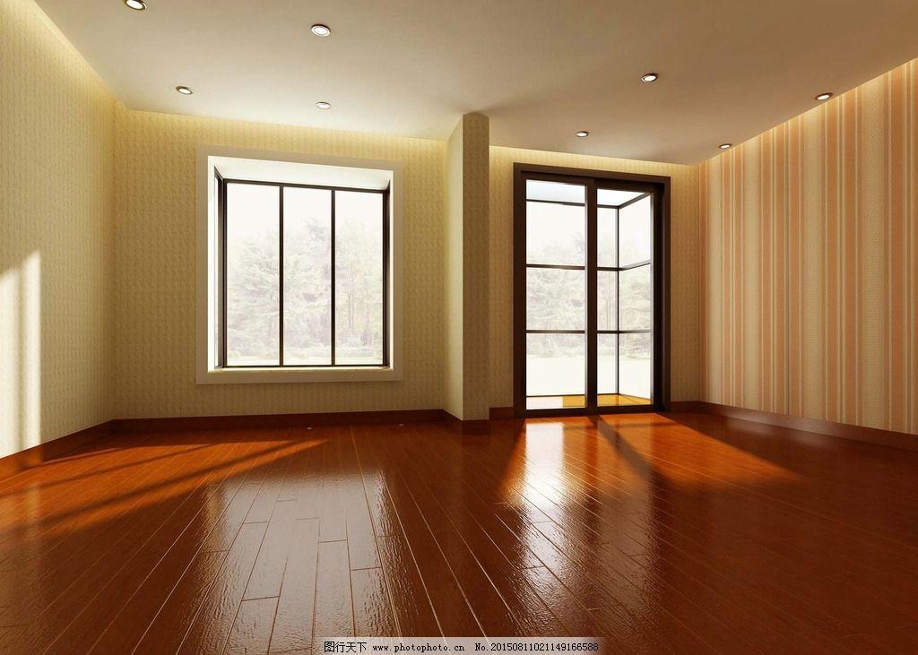 简装木地板房3d模型