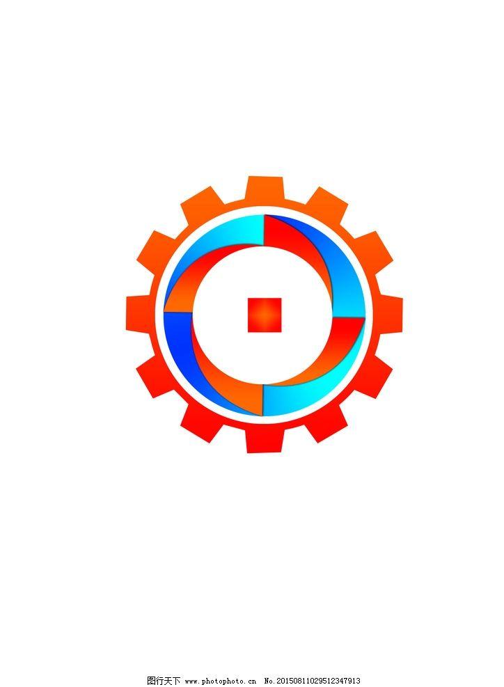 机械logo 冷暖搭配logo 科技logo 大气logo 圆形logo logo 设计 广告