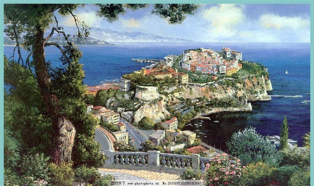 设计图库 广告设计 设计案例  皇冠油画 皇冠 油画 风景油画 大师油画