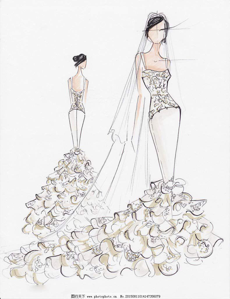 拖尾婚纱设计免费下载