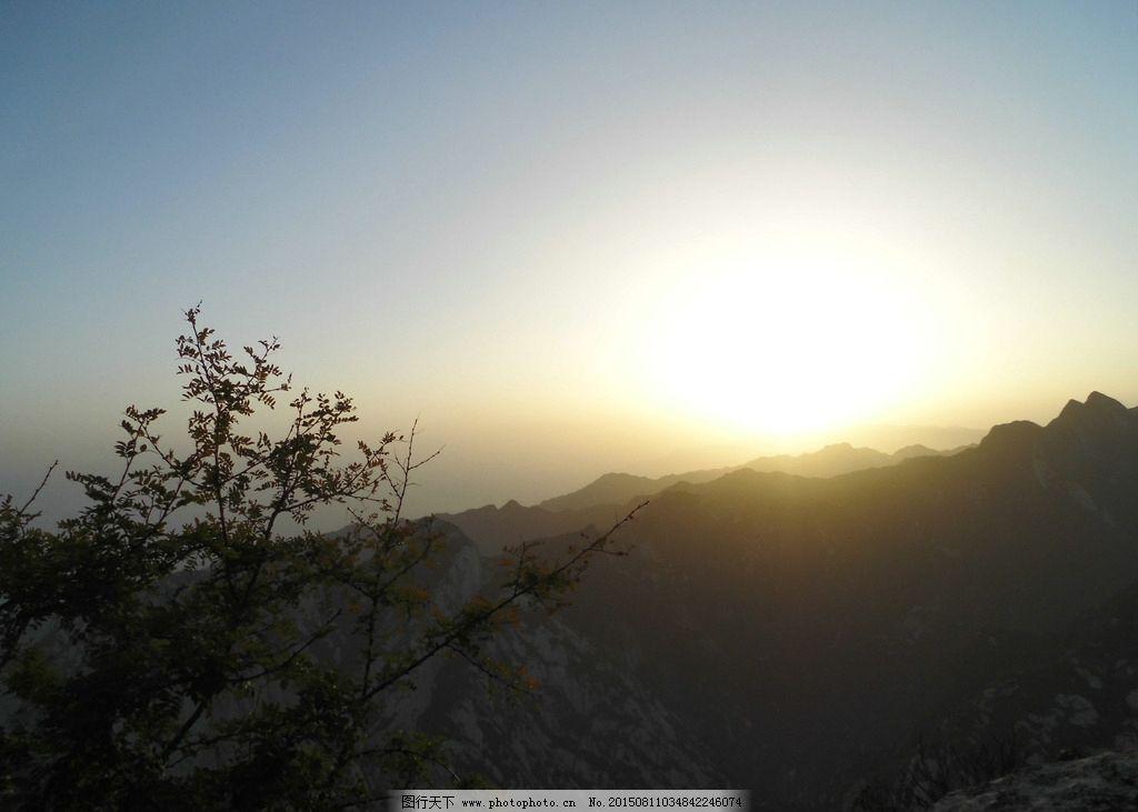 日出 华山 山顶 山峰 摄影  摄影 自然景观 自然风景 72dpi jpg