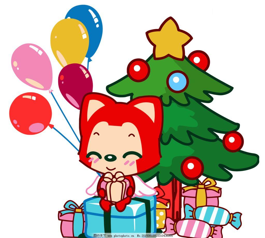 阿狸的圣诞树图片_动漫人物