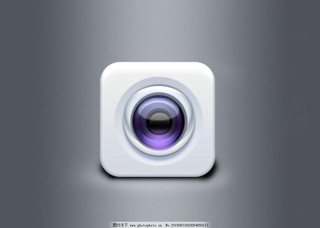 相机图标 手机图标 照相机 广告设计