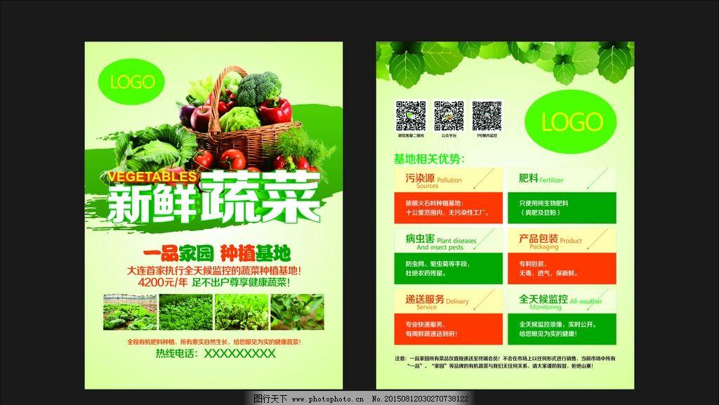 蔬菜配送 新鲜蔬菜 蔬菜宣传单 蔬菜dm 蔬菜 设计 广告设计 dm宣传单