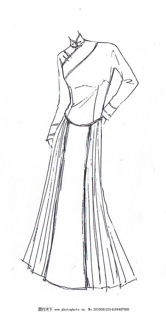 外套手绘款式设计图展示