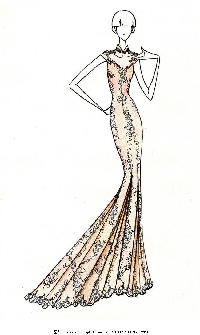 手绘服装设计图_手绘服装设计