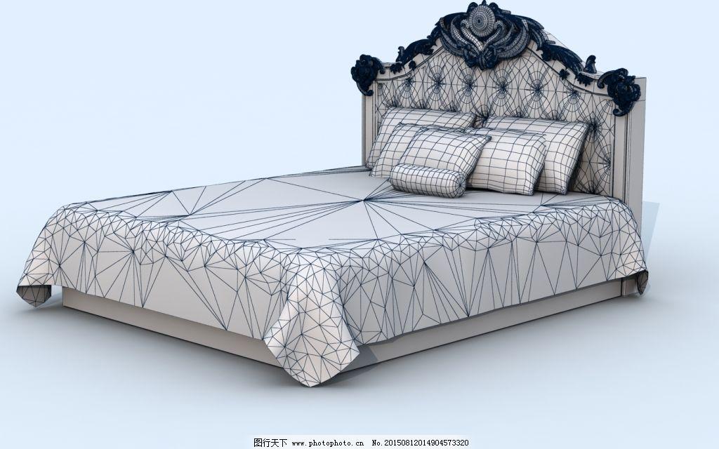 欧式床免费下载 床 模型 欧式 欧式 床 模型 原创设计 原创3d模型