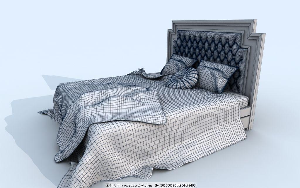 欧式大床免费下载 大床 模型 欧式 欧式 大床 模型 原创设计 原创3d