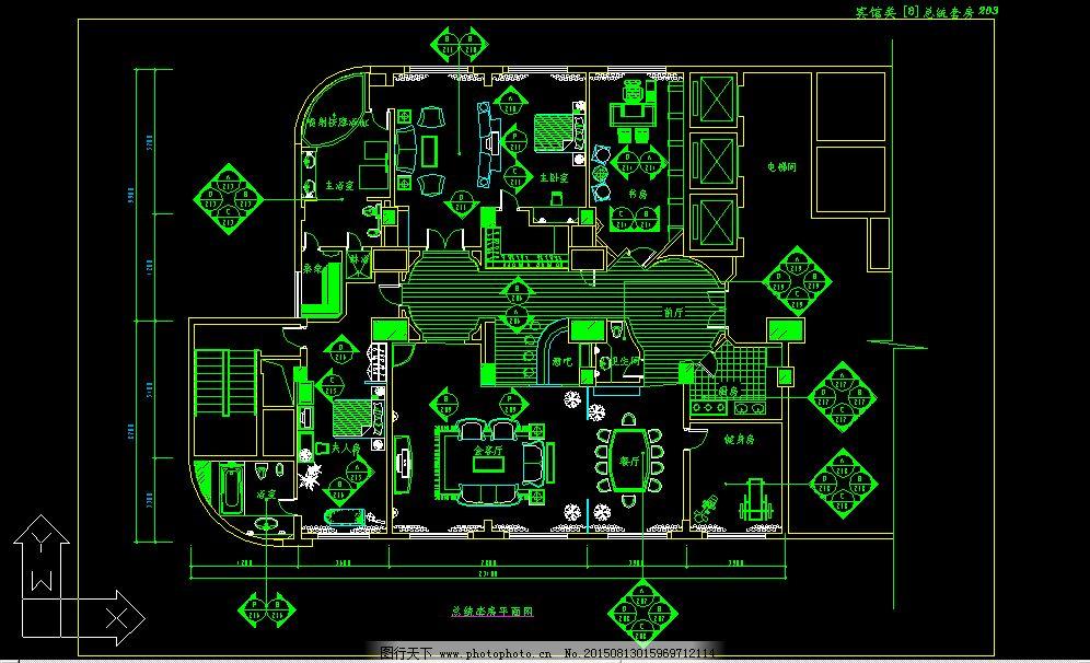 总统套房dwg格式设计图下载