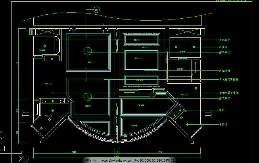 总统套房cad设计图下载