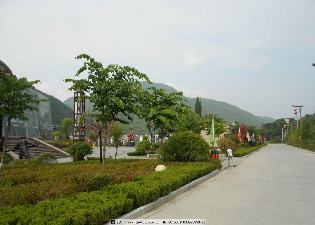 凤县 景色 公路 树木 绿植 摄影  摄影 旅游摄影 国内旅游 300dpi jpg