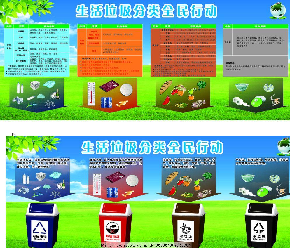 垃圾分类图片_宣传单彩页_海报设计_图行天下图库