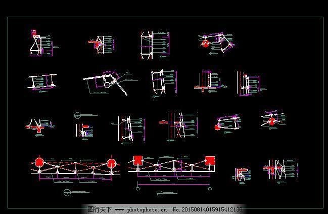 dwg格式 建筑图纸 高速公路收费站 建筑图纸 cad设计图下载 cad施工