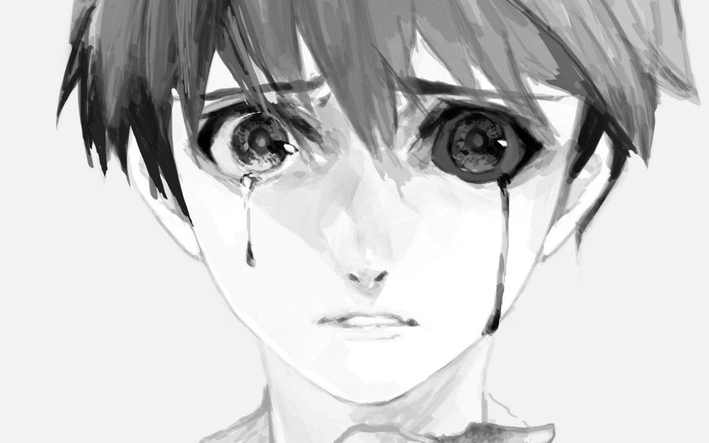 哭泣的金木_可爱卡通_动漫卡通