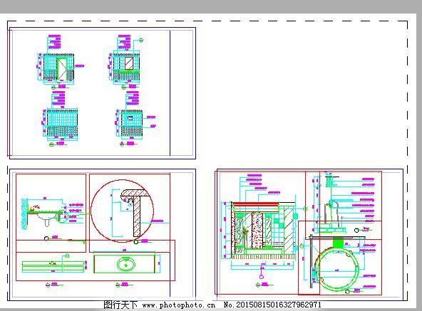 卫生间CAD设计图下载平面设计是产品包装设计图片