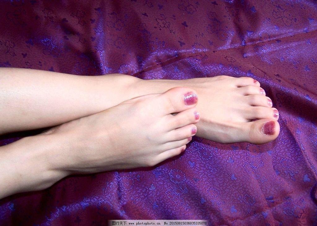 指甲油 美脚图片
