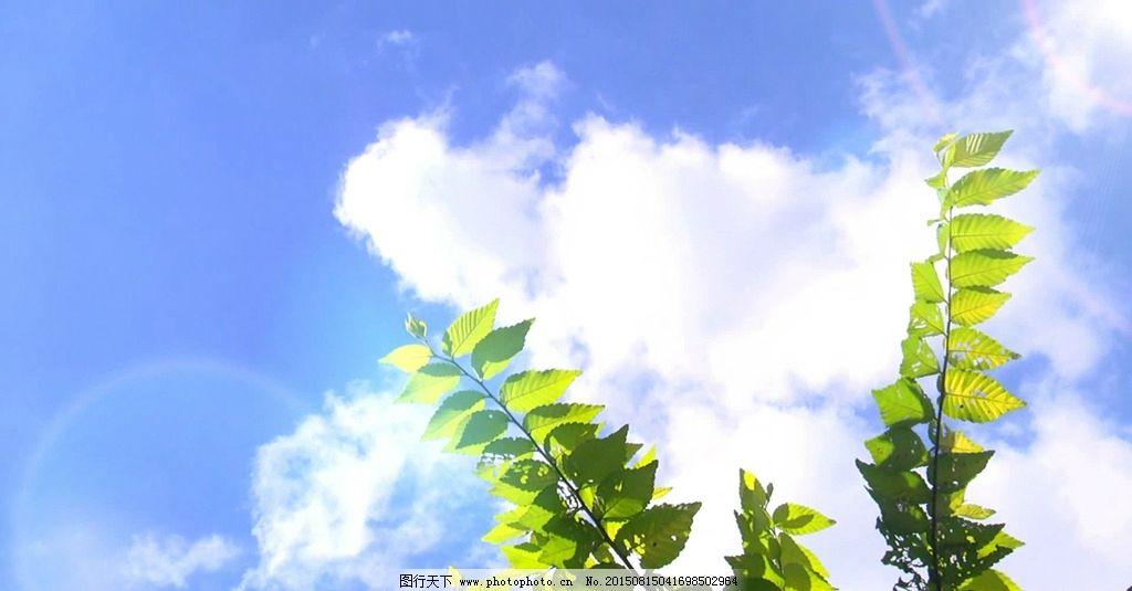 背景 手绘 自然 白云