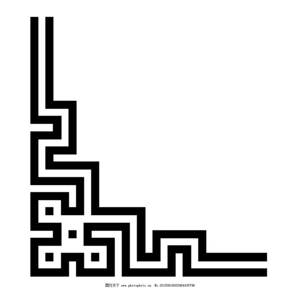 法式角花矢量图