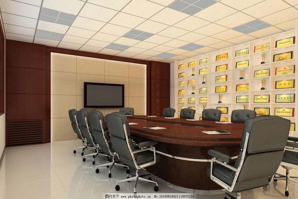 会议室 模板 设计 背景墙 荣誉墙 设计 3d设计 室内模型 max