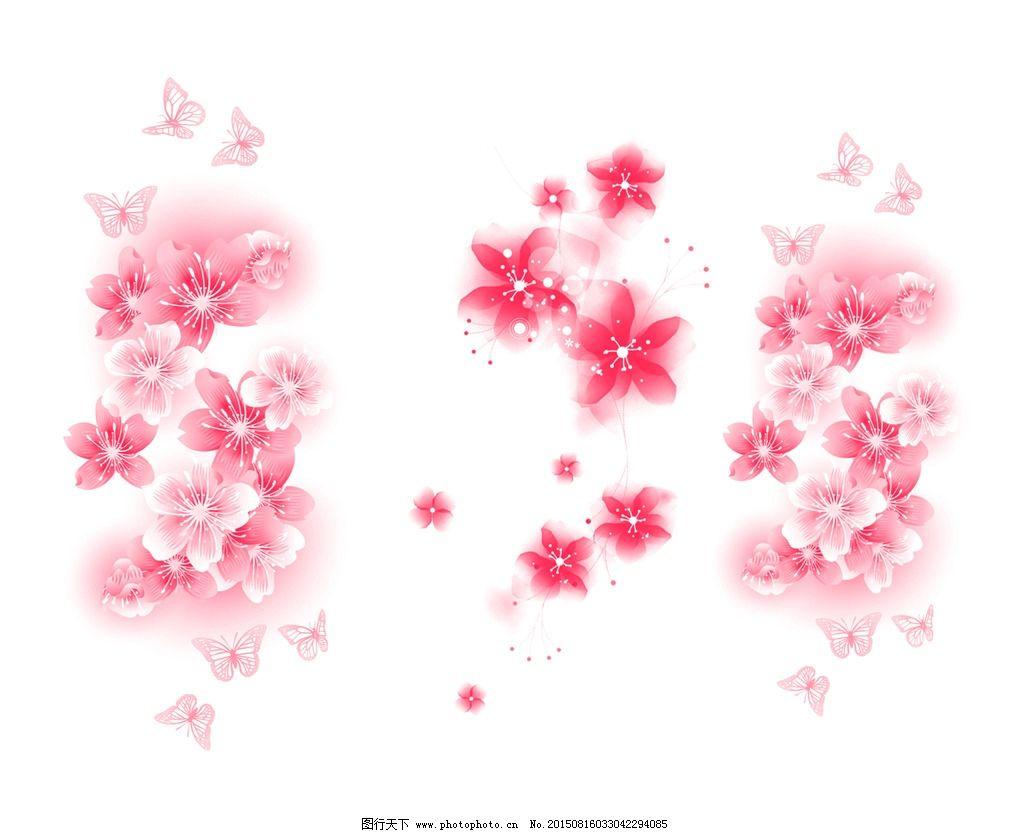 桃花 春季 春色 花草 花纹手绘樱花