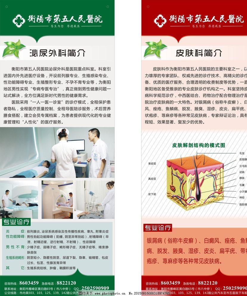泌尿外科 皮肤科展板