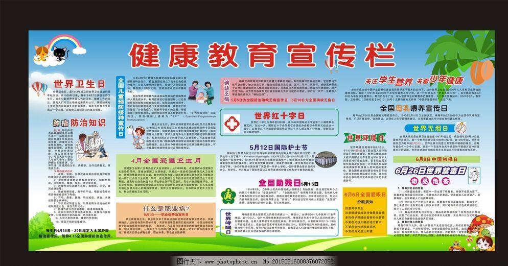 世界大型卫生日宣传栏