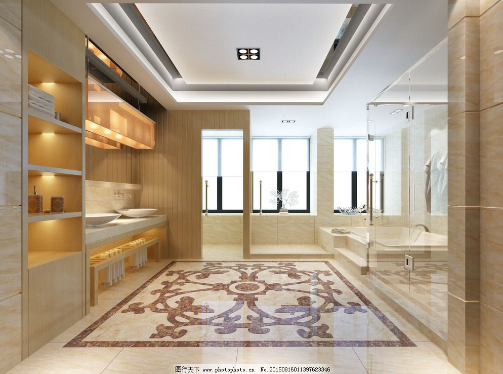 卫生间 公共空间 洗手间图片,高清大图 木纹砖 抛光砖