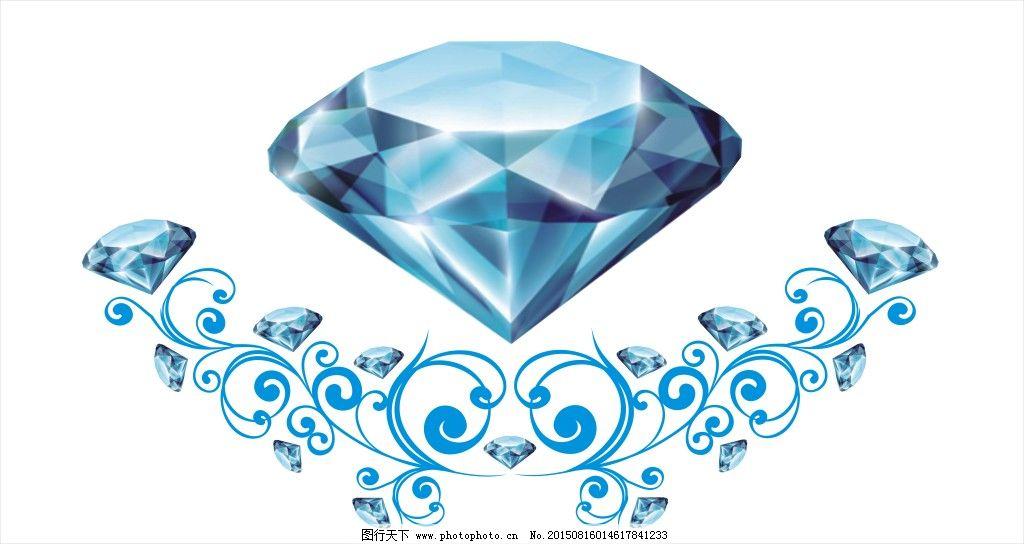 橱窗贴 钻石花纹 蓝色钻石素材