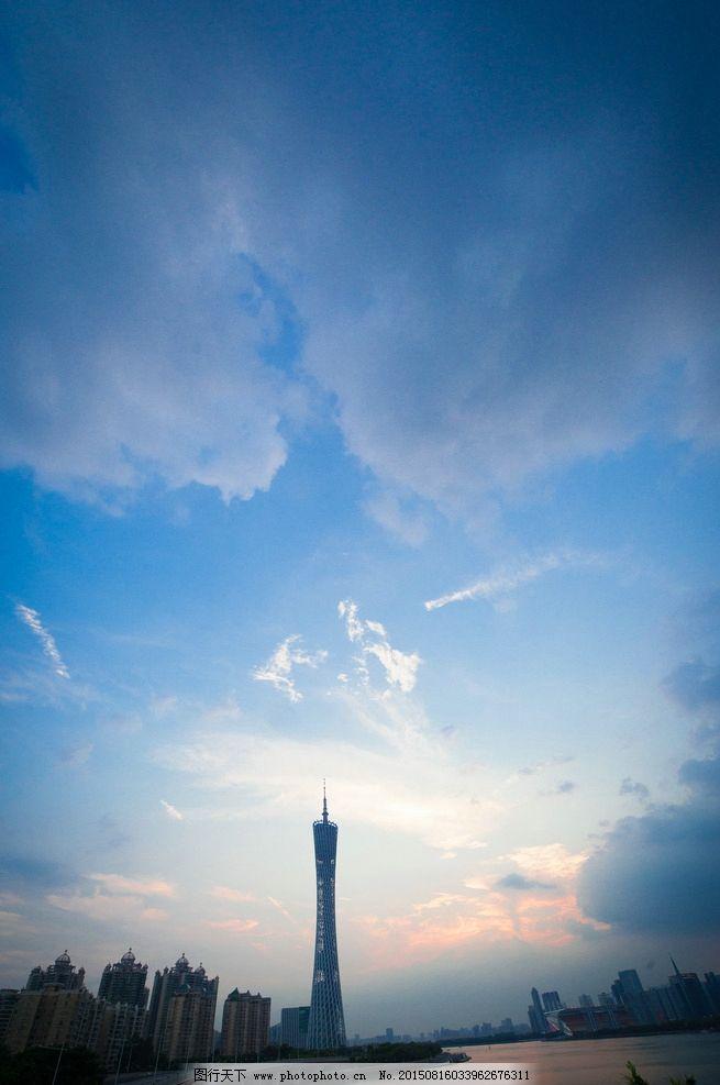 广州塔 广州塔风景图 黄昏