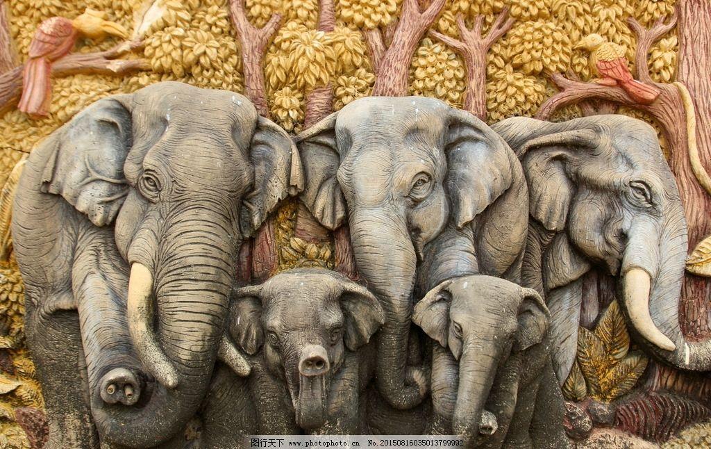 炫酷 艺术 文艺 绘画 设计 手绘 画作 大象 摄影 生物世界 野生动物