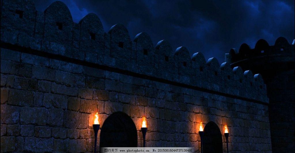 欧式城墙外背景视频