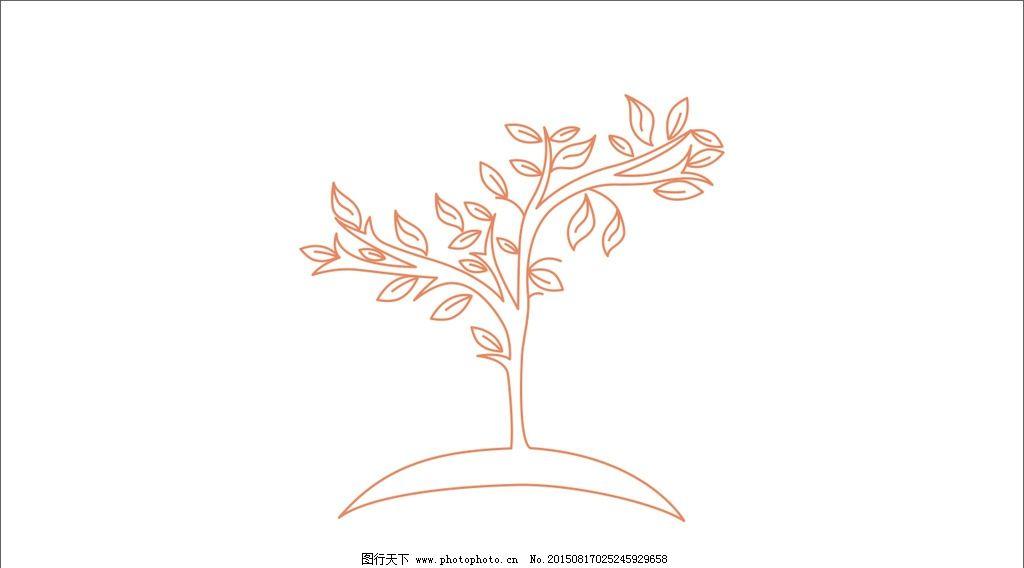 树简笔画 树叶