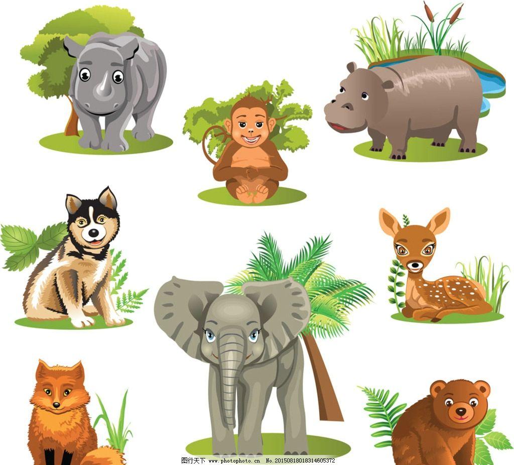 卡通动物 卡通背景 可爱背景 卡通动物形象 卡通长颈鹿 可爱卡通动物