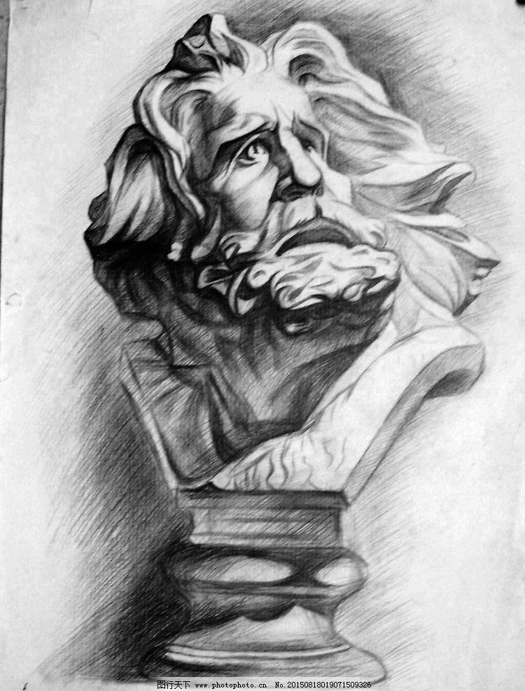 石膏像 石膏素描 素描 素描作品 素描石膏 艺术绘画 设计 文化艺术