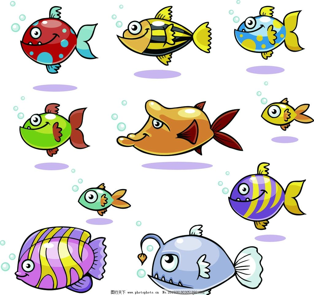 鱼 卡通 海洋动物 热带鱼 海洋 动物 矢量素材 矢量 素材 设计 广告