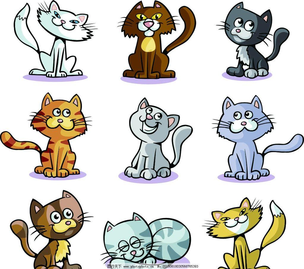 卡通 动物 卡通小猫